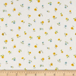 Andover/Makower Bloom Floral Scatter Blue Fabric