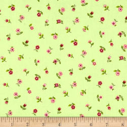 Andover/Makower Bloom Floral Scatter Green Fabric