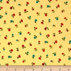 Andover/Makower Bloom Floral Scatter Brown Fabric