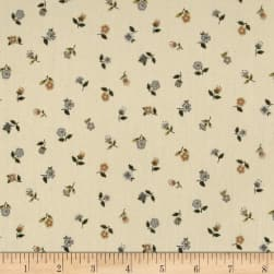 Andover/Makower Bloom Floral Scatter Cream Fabric