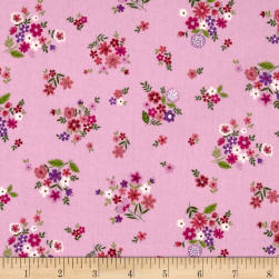 Andover/Makower Bloom Bouquet Pink Fabric