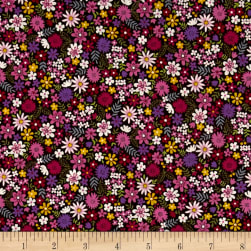 Andover/Makower Bloom Packed Flowers Pink Fabric