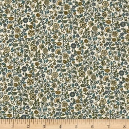 Andover/Makower Bloom Floral Scroll Cream Fabric