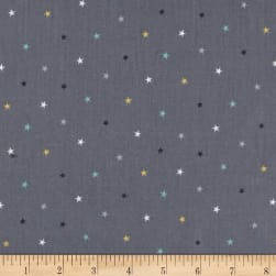 Andover/Makower Counting Sheep Stars Silver Fabric
