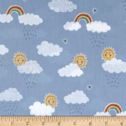 Andover/Makower Counting Sheep Clouds Blue Fabric