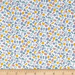 Andover/Makower Counting Sheep Numbers White Fabric