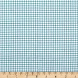 Andover/Makower Counting Sheep Gingham Teal Fabric