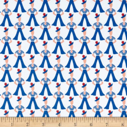 Andover Lottie Ruth Gondilier Blue Fabric