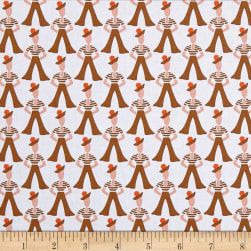 Andover Lottie Ruth Gondilier Brown Fabric