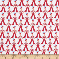 Andover Lottie Ruth Gondilier Red Fabric