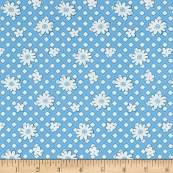 Andover Lottie Ruth Geo Floral Blue Fabric