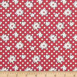 Andover Lottie Ruth Geo Floral Red Fabric