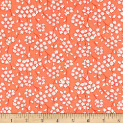 Andover Lottie Ruth Boquet Orange Fabric