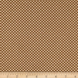 Andover Lottie Ruth Dotted Square Brown Fabric