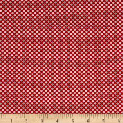 Andover Lottie Ruth Dotted Square Red Fabric