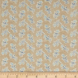 Andover Something Blue Summer Field Burlap Fabric