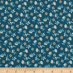 Andover Something Blue Something Borrowed Delft Fabric