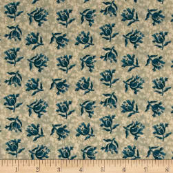 Andover Something Blue Peony Promise Fabric