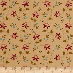 Andover Emma Floral Vine Bisque Fabric