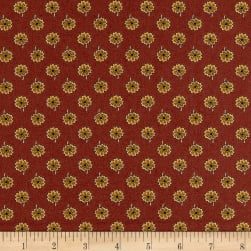 Andover Emma Flowers Brick Fabric