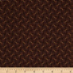 Andover Emma Dotted Squares Chocolate Fabric