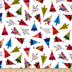 Andover/Makower Joyeux Tree Scatter White Fabric