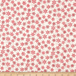 Andover/Makower Scandi 2018 Snowflakes Red Fabric