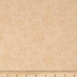Andover Mosaic Rose Outlines Parchment Fabric