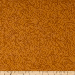 Andover Mosaic Lines Butterscotch Fabric