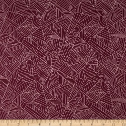 Andover Mosaic Lines Mulled Wine Fabric
