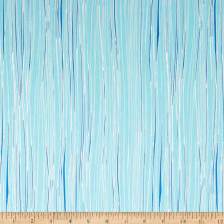 Andover Mosaic Organic Lines Baby Blue Fabric