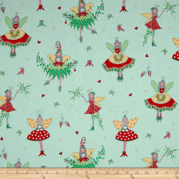 Michael Miller Hollywood Pixies Metallic Winter Fabric