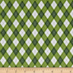 Michael Miller Rustique Winter Gift Wrap Green Fabric