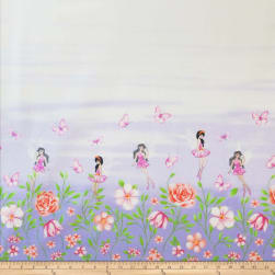 Michael Miller Fairy Frolic Double Border Frolicking Fairies Wisteria Fabric