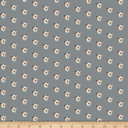 Riley Blake Hey Mister Profile Pic Gray Fabric