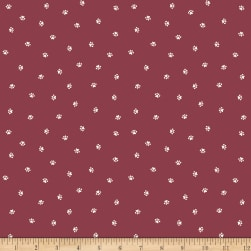 Riley Blake Hey Mister Who Me? Burgundy Fabric