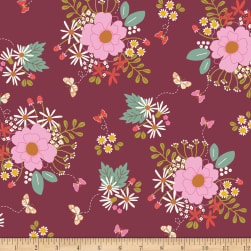 Riley Blake Wild Bouquet Main Merlot Fabric