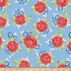 Penny Rose Harry And Alice Main Blue Fabric