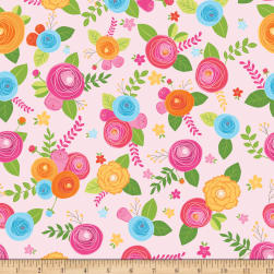 Riley Blake Simply Happy Main Pink Fabric