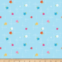 Riley Blake Simply Happy Dash Blue Fabric