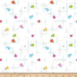 Riley Blake Simply Happy Dash White Fabric