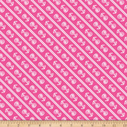 Riley Blake Simply Happy Stripe Pink Fabric