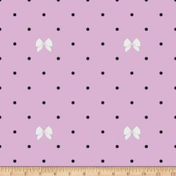 Riley Blake Kiss Me Kate Polka Bow Purple