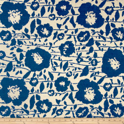 Sunbrella Outdoor Andy Exclusive Floral Jacquard Cobalt Fabric