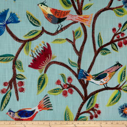 Lacefield Designs Birds of Eden Exclusive Turquoise Fabric