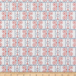 Riley Blake Varsity Hockey Field Off White Fabric