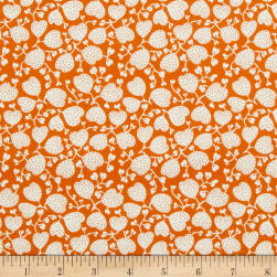 Riley Blake Lemonade Sundae Heart Flower Orange Fabric