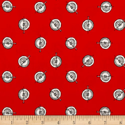 Riley Blake Paperdoll Polka Button Red Fabric