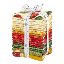 Kaufman Winter's Grandeur Fat Quarters 19 Pcs Metallic