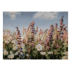 Photorealism Jacquard Wall Décor/Panel Wildflowers